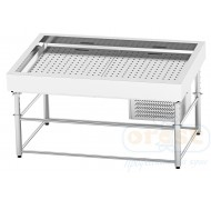 Refrigerated display case for fish on ice  SDIC-1.5/1.0