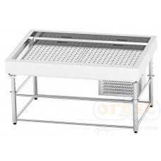 Refrigerated display case for fish on ice  SDIC-1.6/1.0